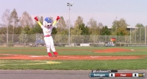 Bene Mayr throws the first pitch preview